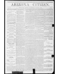 Arizona Citizen : Volume 1, Jan 1874 by Wasson, J.