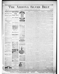 Arizona Silver Belt : Volume 1, Dec 1889 by Hamill, J.H.