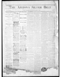 Arizona Silver Belt : Volume 1, June 189... by Hamill, J.H.