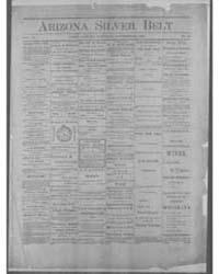 Arizona Silver Belt : Volume 1, Nov 1880 by Hamill, J.H.
