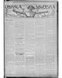 Cronaca Sovversiva : Volume 1, Sept 1908 by Galleani, Luigi