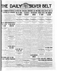 Daily Arizona Silver Belt : Nov 1909 by Hamill, J.H.