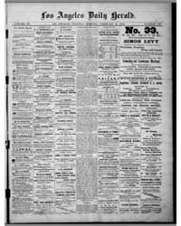 Los Angeles Daily Herald : Feb 1875 by Herald Print. Co.