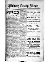 Mohave County Miner : Volume 1, April 18... by A.H. Smith & Co.