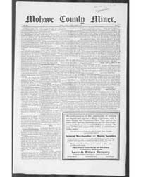 Mohave County Miner : Volume 1, Jan 1911 by A.H. Smith & Co.