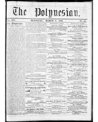 Polynesian : Volume 1, March 1858 by The Polynesian