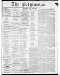 Polynesian : Volume 1, May 1857 by The Polynesian