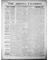 The Arizona Champion : Volume 8, Apr 188... by Fay, A.E.