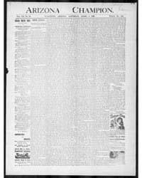 The Arizona Champion : Volume 8, Apr 189... by Fay, A.E.