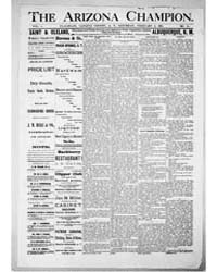 The Arizona Champion : Volume 8, Feb 188... by Fay, A.E.