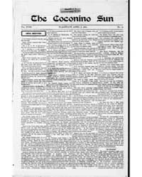 The Coconino Sun : Apr 1901 by Funston, C.M.