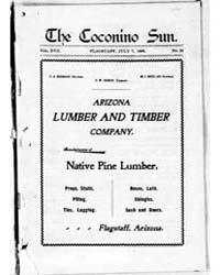 The Coconino Sun : July 1900 by Funston, C.M.