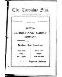 The Coconino Sun : Sep 1898 by Funston, C.M.