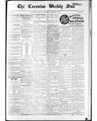 The Coconino Weekly Sun : Volume 9, Oct ... by Funston, C.M.