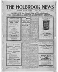 The Holbrook News : Volume 1, July 1911 by Sapp, S.