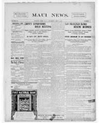 Daily Maui News : Volume 1, May 1906 by Robertson, G.B.