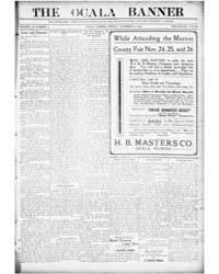 The Ocala Banner : Volume 17, Nov 1909 by Harris, T.W.; Bittinger, C.L.; Harris, F.E.