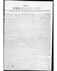 The Polynesian : Volume 1, June 1841 by Jarves, J.J.; Marshall, J.F.B.