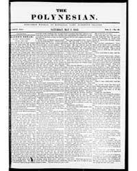 The Polynesian : Volume 1, May 1841 by Jarves, J.J.; Marshall, J.F.B.
