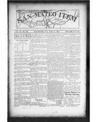 The San Mateo Item : Volume 4, March 190... by Bailey, F.A.