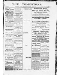 The Tombstone : April 1885 by Nash, James J.