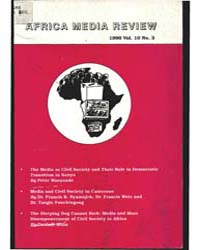 Africa Media Review : Volume 10, Number ... by Africa Media Review