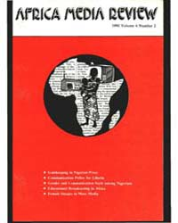 Africa Media Review : Volume 4, Number 2... by Odhiambo, Lewis