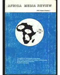 Africa Media Review : Volume 6, Number 2... by Africa Media Review