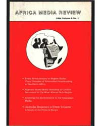 Africa Media Review : Volume 8, Number 1... by Africa Media Review