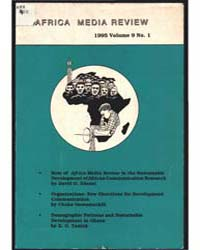 Africa Media Review : Volume 9, Number 1... by Africa Media Review