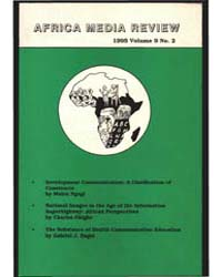 Africa Media Review : Volume 9, Number 2... by Africa Media Review