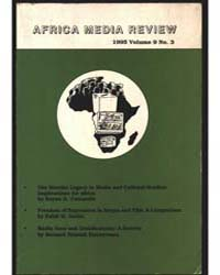 Africa Media Review : Volume 9, Number 3... by Africa Media Review