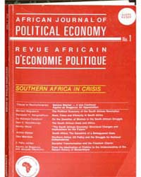 African Journal of Political Economy, Nu... Volume Number 1 by African Journal of Political Economy