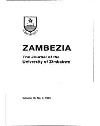 Zambezia, the Journal of the University ... by Zambezia, the Journal of the University of Zimbabw...