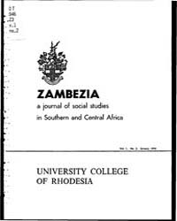 Zambezia, the Journal of Social Studies ... by Zambezia, the Journal of Social Studies in Souther...