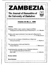 Zambezia, the Journal of Humanities of t... by Zambezia, the Journal of Humanities of the Univers...