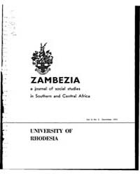 Zambezia, a Journal of Social Studies in... by Zambezia, a Journal of Social Studies in Southern ...