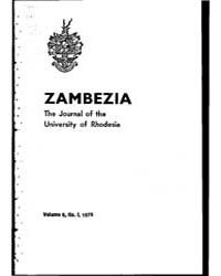 Zambezia, the Journal of the University ... by Zambezia, the Journal of the University of Rhodesi...