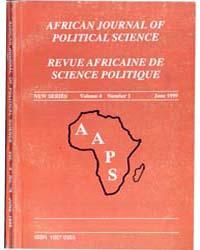 African Journal of Political Science Rev... by African Journal of Political Science Revue Africai...