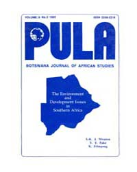 Pula Botswana Journal of African Studies... by Pula Botswana Journal of African Studies