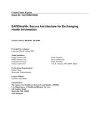 Agency for Healthcare Research and Quali... by Garber, Lawrence, David