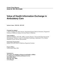 Agency for Healthcare Research and Quali... by Overhage, J., Marc