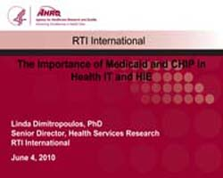 Agency for Healthcare Research and Quali... by Dimitropoulos, Linda