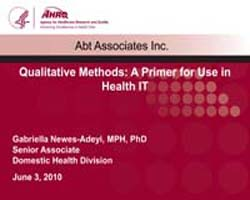 Agency for Healthcare Research and Quali... by Newes-adeyi, Gabriella