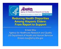 Agency for Healthcare Research and Quali... by Moy, Ernest