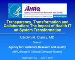 Agency for Healthcare Research and Quali... by Clancy, Carolyn, M.