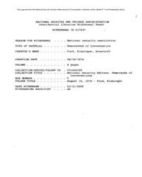 Americas National Archives Journals : Fo... by Office of the Assistant to the President for Natio...