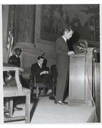 Attorney General Robert Kennedy at Speak... by General Services Administration ; National Archive...