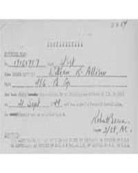 Allison, William R. S by War Department