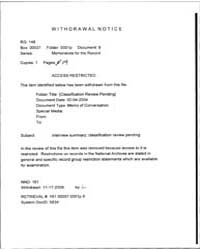 Memorandum for the Record Mfr of an Inte... by Americas National Archives